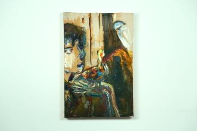 Catherine! A Bird! - Oil on canvas, late autumn - 2007