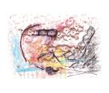 No title - Watercolour, charcoal, conte, marker pen on paper 29.5x21cm