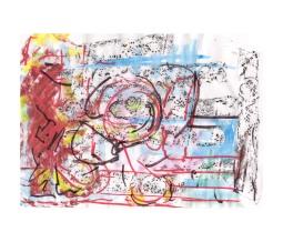 No title - Watercolour, charcoal, conte, pen on paper 29.5x21cm
