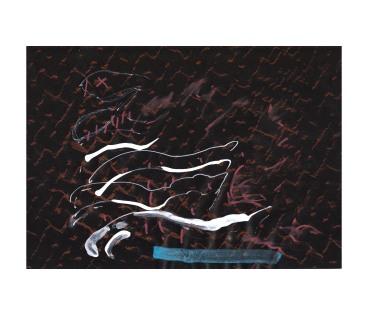 No title - Watercolour, conte, white pen on paper 29.5x21cm