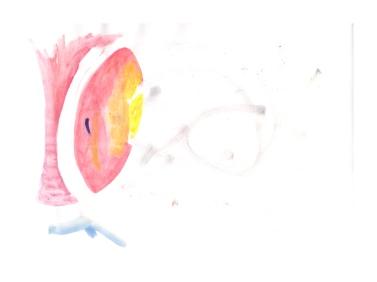 No title - Watercolour, chalk on paper 29.5x21cm