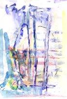 No title - Watercolour, wax crayon, pen on paper 29.5x21cm