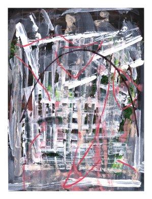 No title - Collage, acrylic, watercolour, pen on paper 29.5x21cm