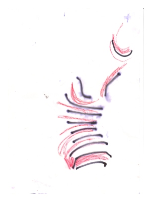No title - Pastels, marker pen on paper 29.5x21cm
