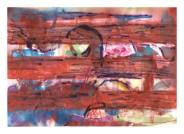 No title - Watercolour,pastels, pen on paper 29.5x21cm