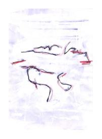 No title - Tipex, pen on paper 29.5x21cm