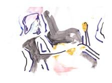 No title - Watercolour, pen on paper 29.5x21cm