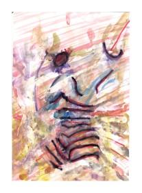 No title - Watercolour, highlighter, pen on paper 29x20cm