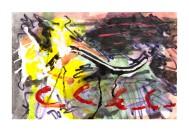 No title - Watercolour, acrylic, pen on paper 28x18.5cm
