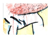 No title - Watercolour, india ink, pen on paper 28.5x20.5cm
